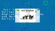 Full version  The College Panda's ACT English: Advanced Guide and Workbook  Best Sellers Rank : #4