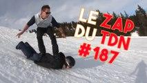 Utiliser son ami comme snowboard pour dévaler les pistes ? Fait ! - Le Zap du TDN #188
