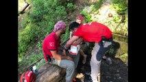 Kanyonda mahsur kalan turisti kurtarma operasyonu: 6 kilometre yürüyerek hastaneye yetiştirdiler