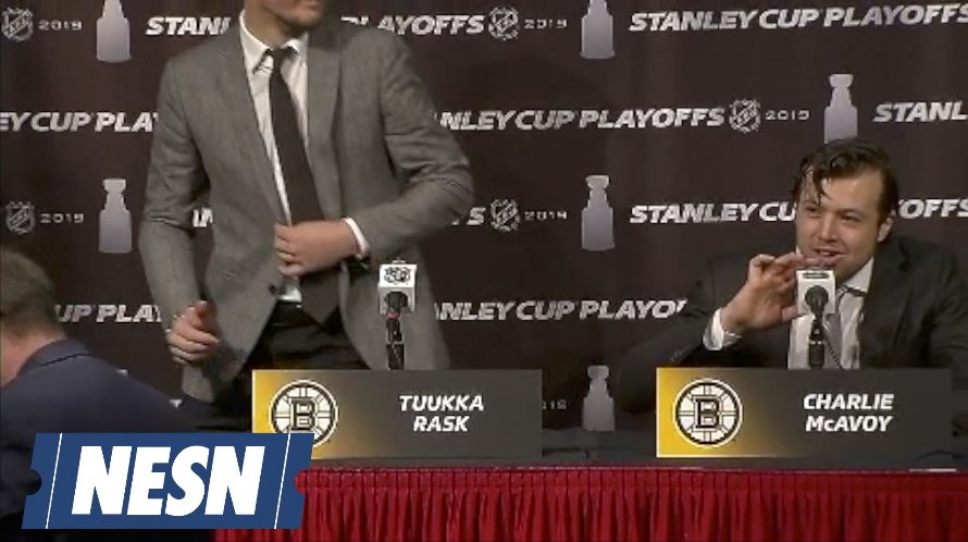 Charlie McAvoy Gets Zero Questions In Press Conference With Tuukka Rask