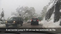 En Corse, neige et record de froid pour un mois de mai