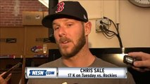 Chris Sale Reacts To Striking Out 17 Batters On Tuesday