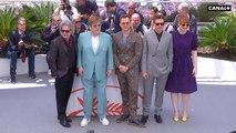 Elton John, Taron Egerton et Richard Madden prennent la pose pour Rocketman - Cannes 2019