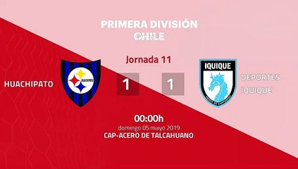 Huachipato-Deportes Iquique Jornada 11 Primera Chile 05-05-2019_00-00