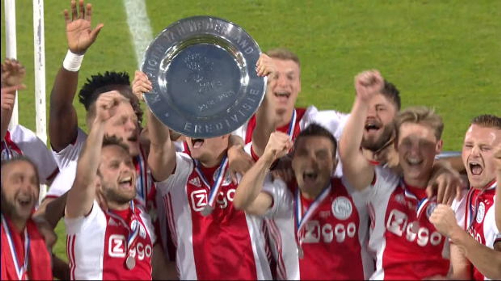 Ajax lift first Eredivisie title in five years