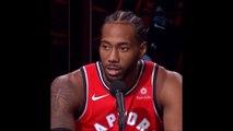 How Kawhi Leonard reacted when he saw Raptors bench depth and output box score after Game 1 Bucks vs Raptors ECF 5-15-19