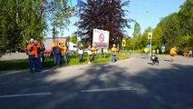 Le convoi exceptionnel arrive à Burgo