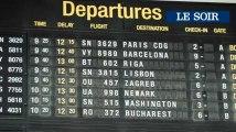 Grève sauvage chez Skeyes: environ cent vols annulés dans le pays, ambiance à l'aéroport