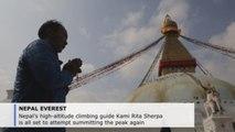 Nepal mountaineer Kami Rita to attempt record 24th Everest climb