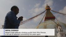 Nepal mountaineer Kami Rita to attempt record 24th Everest climb