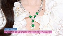 Lily Collins' Met Gala Necklace Had Its Own Security Guard and a Special Key to Unlock It