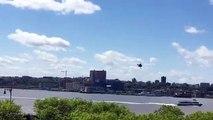 Un pilote perd le controle de son hélicoptère et chute dans le fleuve Hudson