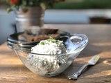 Dip de queso de cabra con hierbas - Cocina con Conexión - Sonia Ortiz con Juan Farré