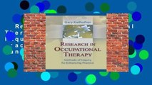 Research in Occupational Therapy: Methods of Inquiry for Enhancing Practice  Best Sellers Rank :