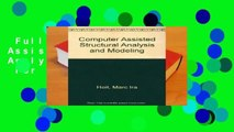 Full version  Computer Assisted Structural Analysis and Modeling  For Kindle