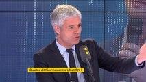 """Pour Laurent Wauquiez, """"Ne nous laissons pas duper par le marketing [du Rassemblement national] qui veut la déconstruction de l'Europe"""""""
