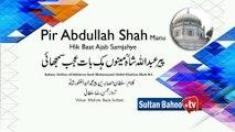 Kalam Pir Abdul Ghafoor Shah   Pir Abdullah Shah Manu Hik Baat Ajab Samjahye