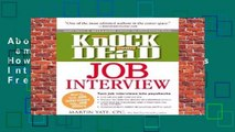 About For Books  Knock  em Dead Job Interview: How to Turn Job Interviews Into Job Offers  For Free