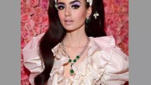 Lily Collins' Met Gala necklace had its own security team