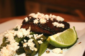 Coffee Rubbed Flank Steak with Roasted Poblano Peppers