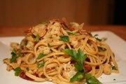 Linguini with Roasted Cauliflower and Bacon