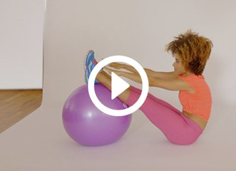 3 Quick Yoga Ball Moves That Work Your Core to the Max
