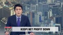 KOSPI companies' Q1 net profit down 40 pct. on-year
