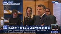 Emmanuel Macron est en déplacement à Biarritz pour préparer le G7