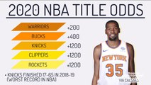 Knicks Currently Have Third-Best Title Odds for 2020