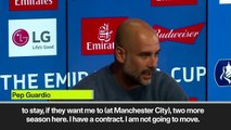 (Subtitled) Pep Guardiola denies that Juventus or Serie A move is going to happen soon