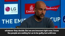 (Subtitled) 'Innocent until proven guilty'- Guardiola on UEFA and Financial Fair Play