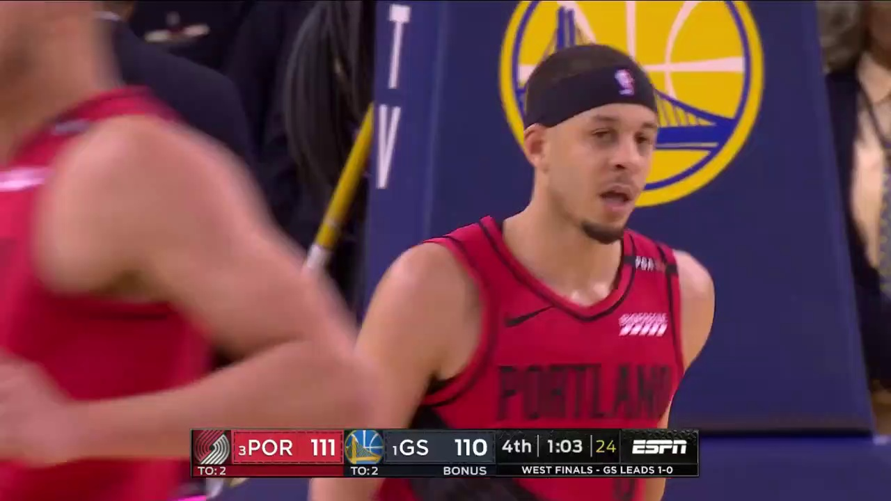 Seth Curry scores 16 against brother Stephen Curry in Game 2 of Western Conference Finals