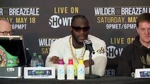 Deontay Wilder and Dominic Breazeale speak ahead of their heavyweight title bout