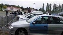 Match FC Sochaux - Grenoble :  échauffourées à l'extérieur du stade Bonal