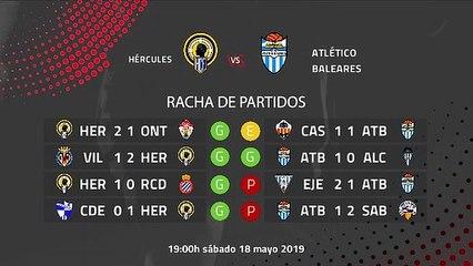 Previa partido entre Hércules y Atlético Baleares Jornada 38 Segunda División B