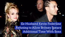 Kevin Federline Doesn't Want Britney Spears Around Their Kids