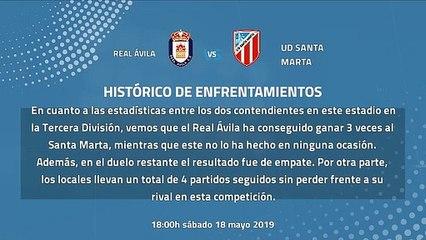 Previa partido entre Real Ávila y UD Santa Marta Jornada 38 Tercera División
