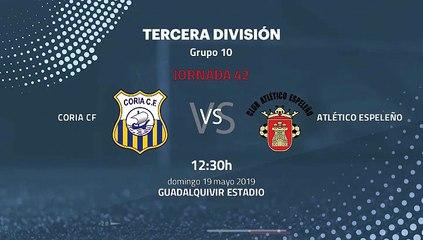 Previa partido entre Coria CF y Atlético Espeleño Jornada 42 Tercera División