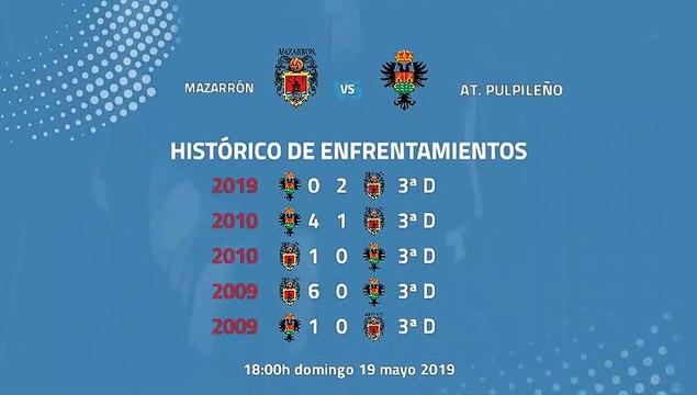 Previa partido entre Mazarrón y At. Pulpileño Jornada 42 Tercera División