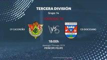 Previa partido entre CP Cacereño y Cd Diocesano Jornada 38 Tercera División