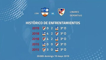 Previa partido entre Loja y Linares Deportivo Jornada 42 Tercera División