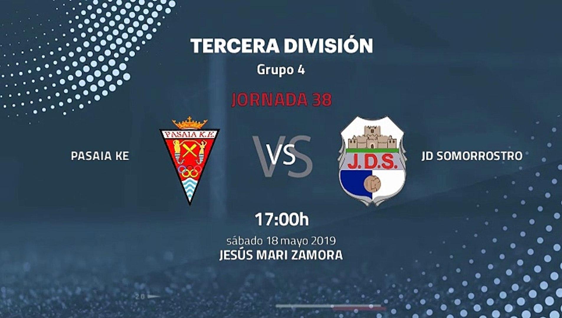Previa partido entre Pasaia KE y JD Somorrostro Jornada 38 Tercera División