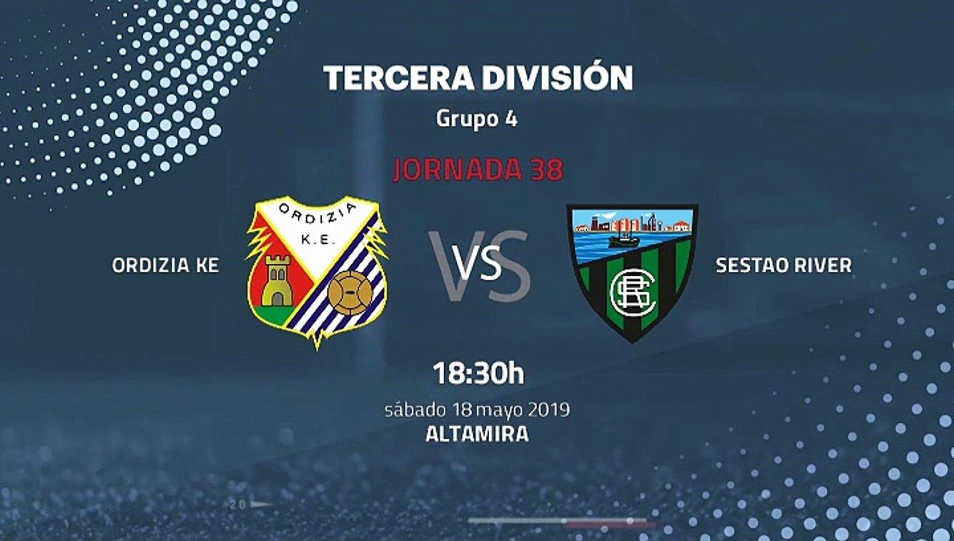 Previa partido entre Ordizia KE y Sestao River Jornada 38 Tercera División
