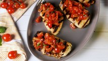 Grilled Halloumi Bruschetta Is The Ultimate Low-Carb Hack