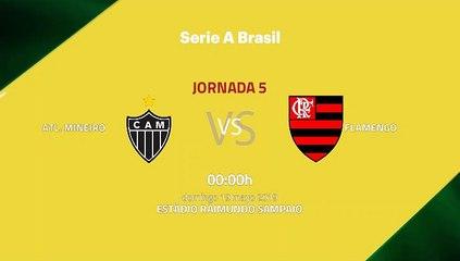 Previa partido entre Atl. Mineiro y Flamengo Jornada 5 Liga Brasileña