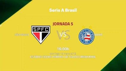 Previa partido entre São Paulo y Bahía Jornada 5 Liga Brasileña
