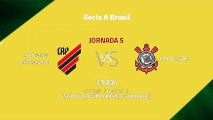 Previa partido entre Athletico Paranaense y Corinthians Jornada 5 Liga Brasileña