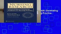 Trial New Releases  Nursing Research: Generating and Assessing Evidence for Nursing Practice by