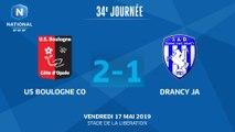 J34 : US Boulogne CO - JA Drancy (2-1), le résumé I National FFF 2018-2019
