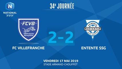 J34 : FC Villefranche B. - Entente SSG (2-2), le résumé